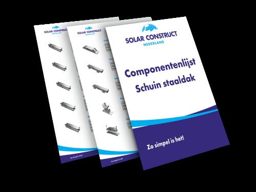 Solar Construct Nederland - Componentenlijst Schuin dak - Staaldak